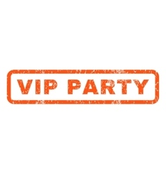 Vip Party Rubber Stamp vector image