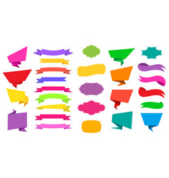 web stickers tags banners and labels collection vector image