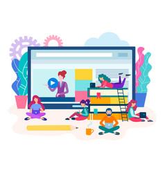 webinar online lesson vector image