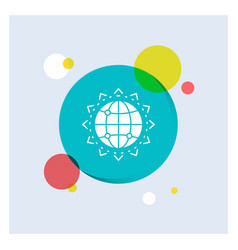 world globe seo business optimization white glyph vector image