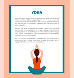 Yoga pose banner text sample vector