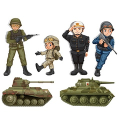 A group of soldiers vector image