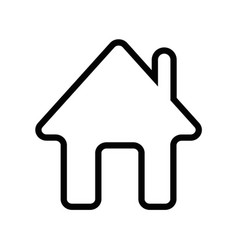 home icon outline vector image vector image