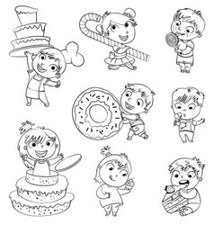 sweet tooth funny cartoon character vector image