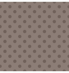 Tile pattern with brown polka dots dark background vector image vector image
