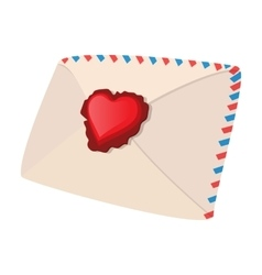 Envelope and heart cartoon icon vector image