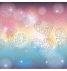 hearts pattern card background icon vector image