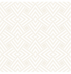 subtle ornament with striped rhombuses vector image