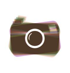 digital photo camera sign colorful icon vector image vector image