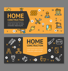 home repair flyer banner posters card set vector image