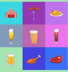 set of images oktoberfest vector image