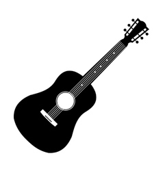 Acoustic guitar black icon vector image vector image