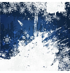 Christmas decoration grunge background vector image vector image