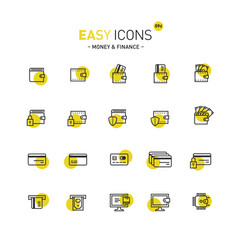 easy icons 09d money vector image vector image