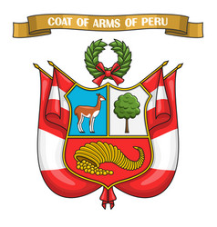 peruvian coat of arms vector image vector image