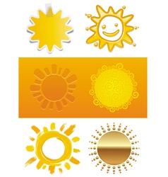 Set of a sun vector image vector image