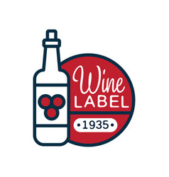 wine label 1935 natural top quality product vector image vector image