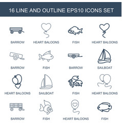 16 eps10 icons vector