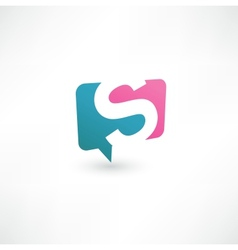 Abstract bubble icon based on letter s vector