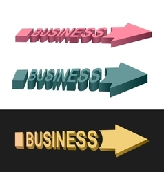 Arrows business vector image