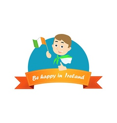 Be Happy in Ireland vector image