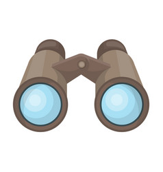 Binoculars for observationafrican safari single vector