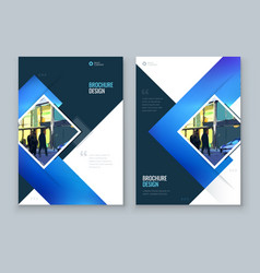 blue brochure cover background design corporate vector image