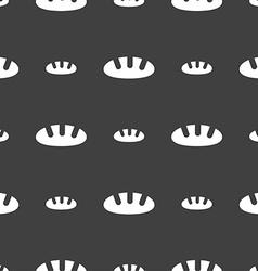 Bread icon sign Seamless pattern on a gray vector image vector image