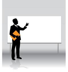 businessman board vector image