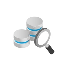 Database and magnifying glass icon vector image