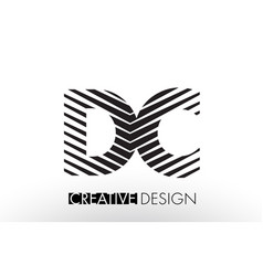 Dc d c lines letter design with creative elegant vector
