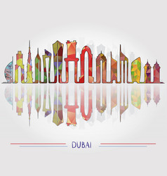 dubai city skyline background vector image
