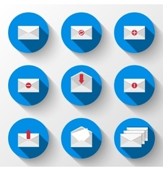 Email icons set vector