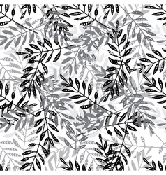 Ethnic doted leaves mix seamless pattern vector