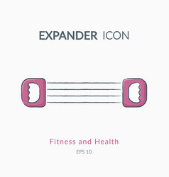 expander icon isolated on white vector image