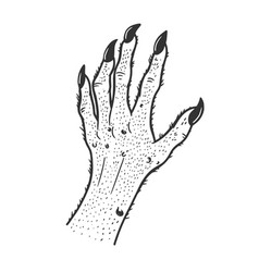 Fabulous monster hand sketch vector