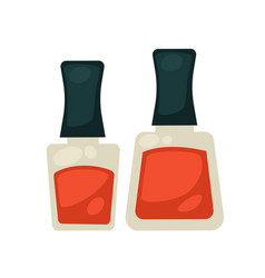 flasks with nail polish vector image