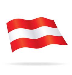 Flying austrian flag austria silk vector
