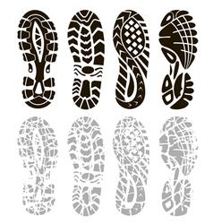 Foot print vector