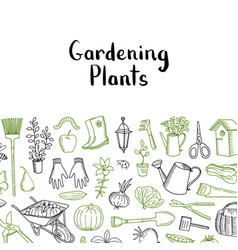 gardening icons background vector image
