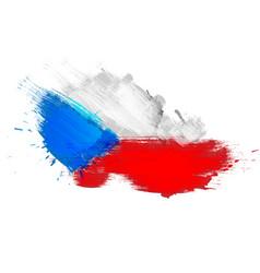 grunge map czech republic with czechian flag vector image