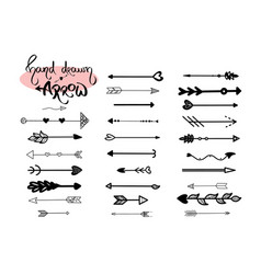 hand drawn arrows icon on white background vector image