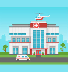 hospital building health centre medical clinic vector image