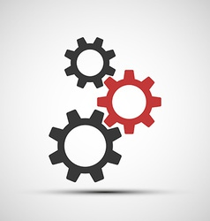 Icons mechanical gears vector