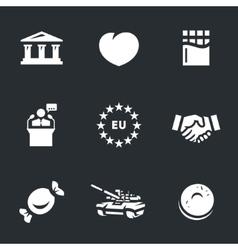 Icons Set of Ukraine vector image
