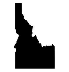 idaho id state border usa map solid vector image
