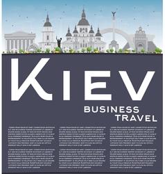 Kiev skyline with grey landmarks vector image