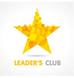 leaders club star logo vector image