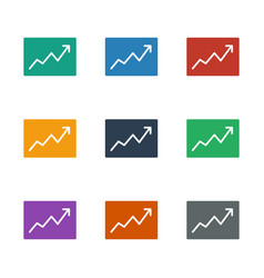 Line graph icon white background vector