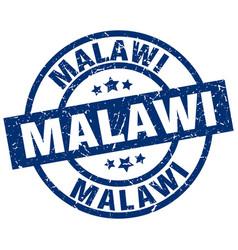Malawi blue round grunge stamp vector